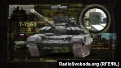 Танк Т-72Б3, який Росія постачає бойовикам на Донбасі