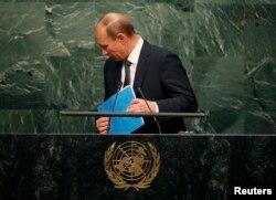 Президент Росії Володимир Путін після промови перед Генеральною асамблеєю ООН. 28 вересня 2015 року