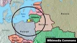 """Зона поражения баллистическими ракетами """"Искандер"""", размещенными в Калининграде"""