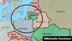 Rusi - Perimetri i goditjes eventuale nga raketat balistike ruse Iskander, pas vendosjes së tyre në Kaliningrad (Ilustrim)
