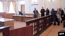 Pamje nga gjykata në Harkov pak para fillimit të procesit kundër Julia Timoshenkos