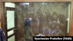 У шкляной клетцы Астанкінскага суду ў Маскве - Крысціна Хачатур'ян 2 жніўня 2018-га.
