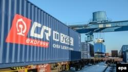 Foto: Poljska, transport vozom od Kine do Velike Britanije kao dio novog kineskog Puta svile