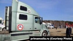 Пробка на китайско-российской границе