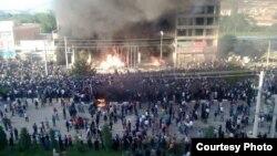 تظاهرات في مهاباد الكردية في إيران