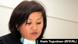 Судья Гульмира Бейсенова. Алматы, 6 декабря 2012 года.
