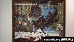 Карціна «Час д'ябла» на выставе Аляксея Марачкіна