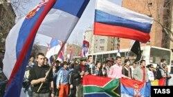 Beograd, jedan u nizu protesta protiv nezavisnosti Kosova, 25. februar 2008