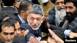 Ауғанстан президенті Хамид Карзай Лойя Жирга жиынында. Кабул, 24 қараша 2013 жыл.