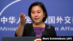 Пресс-секретарь МИД Китая Хуа Чунинг.