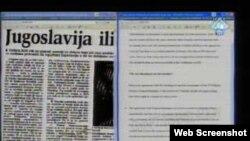 """Dokazni materijal na suđenju Radovanu Karadžiću (Karadžićev interview u """"Borbi""""), 29.11.2010."""