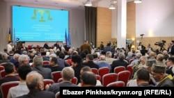 Qırımtatar Milliy Qurultayı konferentsiyası. Kyiv, 2018 senesi, noyabr 12