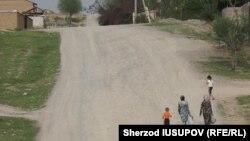 Женщины с детьми в сельской местности в Ошской области Кыргызстана.