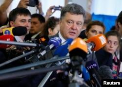 Петро Порошенко під час президентських виборів. Травень 2014 року