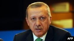 Түркия премьер министрі Режеп Тайып Ердоған. Брюссель, 21 қаңтар 2014 жыл.