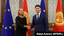 Кыргызстандын тышкы иштер министри жана Европа Биримдигинин тышкы саясат боюнча жогорку комиссары Федерика Могерини.