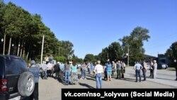 Митинг в Колывани за перенос строительства птицекомплекса
