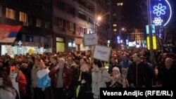 Protest 'Stop krvavim košuljama' u Beogradu 8. decembra 2018.