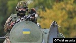 Донбастағы украин сарбазы. (Көрнекі сурет.)