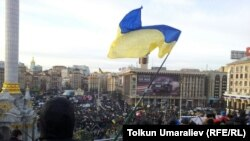 Protests in downtown Kyiv