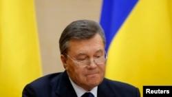 Виктор Янукович на пресс-конференции в Ростове-на-Дону. 28 февраля 2014 года.