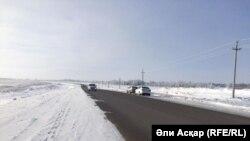 На трассе в Актюбинской области. Иллюстративное фото.