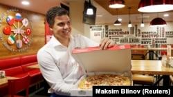 Кристофер Уинн, Papa John's пицца мейрамханаларыы желісін ашатын PJ Western компаниясының иесі әрі атқарушы директоры. Мәскеу, 21 шілде 2017 жыл.