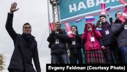 Алексей Навальный в Новосибирске.