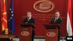 Архивска фотографија - Виктор Орбан на средба со лидерот на Никола Груевски.