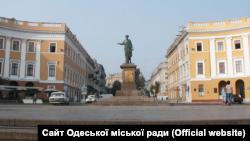 Пам'ятник Арману де Рішельє (Дюку) в Одесі (фото з офіційного сайту Одеської міської ради)
