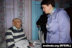 Тацьцяна Караткевіч і вэтэран Сяргей Шындыч