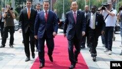 Средба на претседателот на Владата на Република Македонија Никола Груевски со генералниот секретар на ОН Бан Ки-мун.