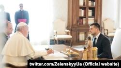 Presidenti ukrainas, Volodymyr Zelenskiy dhe Papa Françesku