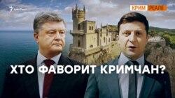 Зеленський чи Порошенко? За кого Крим? | Крим.Реалії
