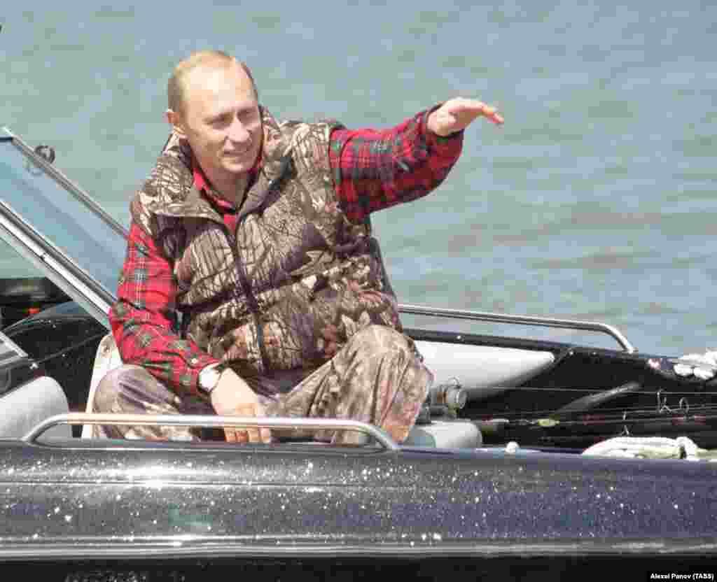 На рыбалке в дельте Волги. Апрель 2002 года