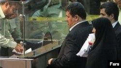 Мехди Хашеми, сын Акбара Рафсанджани, в аэропорту Тегерана. 24 сентября 2012 года.