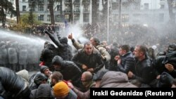 Water Cannons Used Against Protesters In Georgia