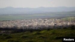 نمایی عمومی از خانشیخون در جنوب استان ادلب که ارتش سوریه میگوید پس از پنج سال آن را از شورشیان اسلامگرا بازپس گرفته است
