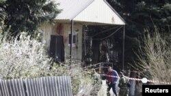 Место нападения в Новоселицком районе, 11 апреля 2016 года.