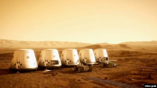 تصویری خیالی از اقامتگاههای کره مریخ
