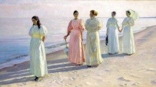 Мікаэль Анкер, «Шпацыр на пляжы» (1896).