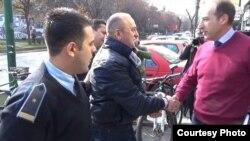 Поранешниот министер за внатрешни работи Љубе Бошкоски донесен на распит во Специјалното јавно обвинителство на 15 февруари 2016. Фото: novatv.mk
