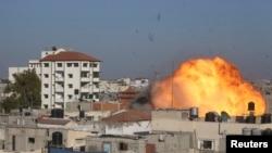 صحنهای از حملات هوایی پیشین اسرائیل به غزه