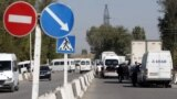 Kyrgyzstan - Kazakhstan - the border. Checkpoint Ak jol. 12 October, 2017