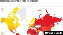 Beynəlxalq Şəffaflıq təşkilatının dünya üzrə korrupsiya xəritəsi