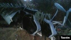 خبرگزاری تسنیم تصویری از این هواگرد فوقسبک پس از سقوط منتشر کرده است