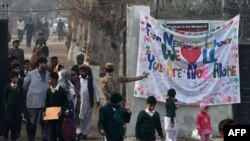 The Army Public School in Peshawar reopened on January 12 after a Taliban massacre of students and teachers last month.