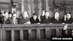 Lideri PCR la o sesiune M.A.N., 4.12.1950, București