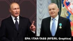 "Defending 'traditional values."" Vladimir Putin and Dmitry Kiselyov"