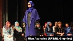 Мусулман кийимдеринин мода көргөзмөсү. Бишкек. 2014-жыл